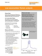 Product note:  Low wavenumber Raman analysis