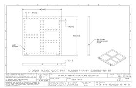Technical drawing:  R-PVW-13250250-10-4R