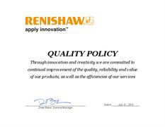 Product quality statement:  US RMFS Quality Policy