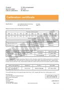 Certificate of calibration:  XC-80 compensator