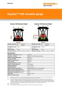 Data sheet:  Equator 500 versatile gauge