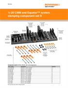 Data sheet:  1/4-20 CMM and Equator™ system clamping component set B