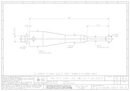 Technical drawing:  A-6560-2657 stylus for BLUM probes