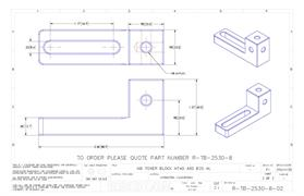 Technical drawing:  M8 Tower block with base