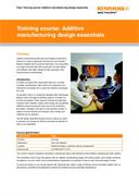 Flyer: Training course - additive manufacturing design essentials
