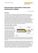 White paper: Environmental compensation of linear laser interferometer readings