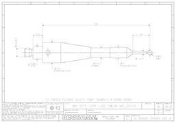Technical drawing:  A-6560-2648 stylus for BLUM probes