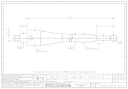 Technical drawing:  A-6560-2653 stylus for BLUM probes