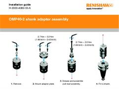 Installation guide:  OMP40-2 shank adaptor assembly