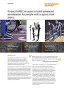 Case study:  Project MARCH races to build advanced exoskeleton for people with a spinal cord injury