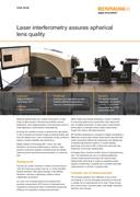 Case study:  Laser interferometry assures spherical lens quality
