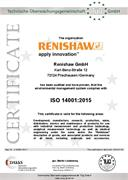 Certificate (CE):  ISO 14001