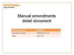 LaserXL - manuals amendments detail document