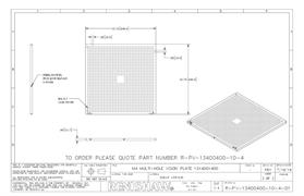 Technical drawing:  R-PV-13400400-10-4