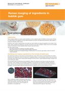 Application note:  Raman imaging of ingredients in bubble gum
