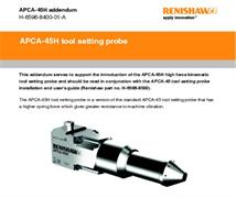 Installation & user's guide:  APCA-45H addendum - APCA-45H tool setting probe