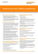 Data sheet:  Renishaw fact sheet: additive manufacturing