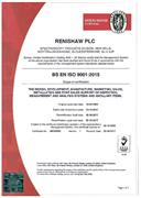 Certificate: Renishaw Spectroscopy UK009055