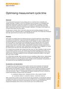 White paper:  TE413 - Optimising measurement cycle time