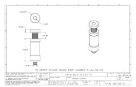 Technical drawing:  R-AJ-50-20
