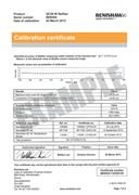 Certificate of calibration:  QC20-W ballbar