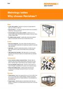 Metrology tables - Why choose Renishaw?