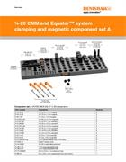 Data sheet:  1/4-20 CMM and Equator™ system clamping and magnetic component set A