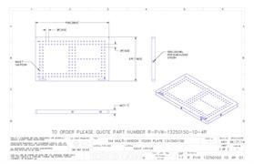 Technical drawing:  R-PVW-13250150-10-4R