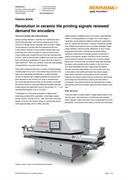 Feature article: Revolution in ceramic tile printing signals renewed demand for encoders