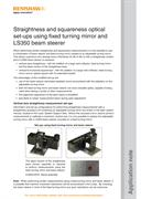Application note:  Straightness and squareness optical set-ups using fixed turning mirror and LS350 beam steerer