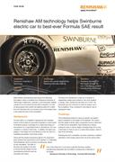 Case study: Renishaw AM technology helps Swinburne electric car to best-ever Formula SAE result