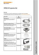 Application note:  XR20-W spares list