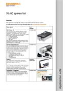 Application note:  XL-80 spares list