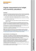 Error budget and uncertainty calculations: Angular measurement