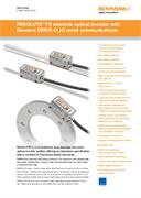 Data sheet:  RESOLUTE™ FS absolute optical encoder with Siemens DRIVE-CLiQ