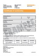 Certificate of conformity: XM-60 multi-axis calibrator