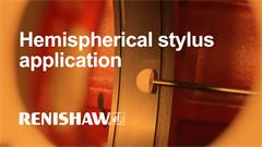 Hemispherical stylus application video