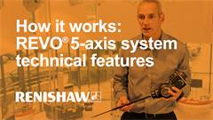 Overview of the REVO® 5-axis multi-sensor system's technical features