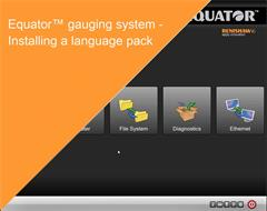 Training module:  Equator gauging system - Installing a language pack