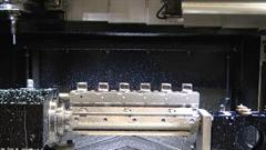 Completed machining operation on RAMTIC machining centre