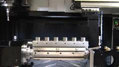 Part loading and setting on RAMTIC machining centre