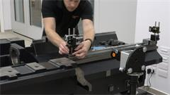 How to measure parallelism with the XK10 alignment laser system