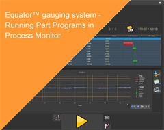 Training Manual:  Equator gauging system - Running Part Programs in Process Monitor