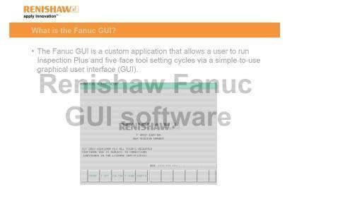 Video: Renishaw Fanuc GUI: Fanuc GUI probe calibration tool